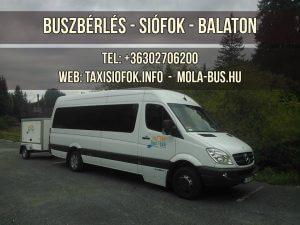 Buszbérlés Siófokon, a Balatonon! Megfizethető luxus: +36302706200