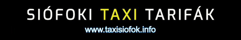taxi árak siófokon